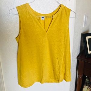 yellow tank top from old navy